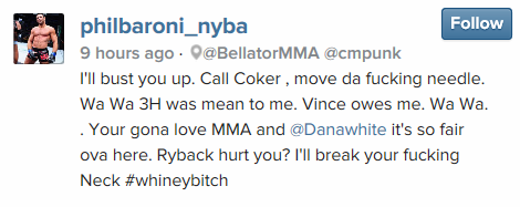 Alanu0027s Angle: This Is One Of Those Fights That Would Actually Make Sense  For Punk. Not Saying That Punk Would Do Well But Baroni Provides A Big  Enough Name ...