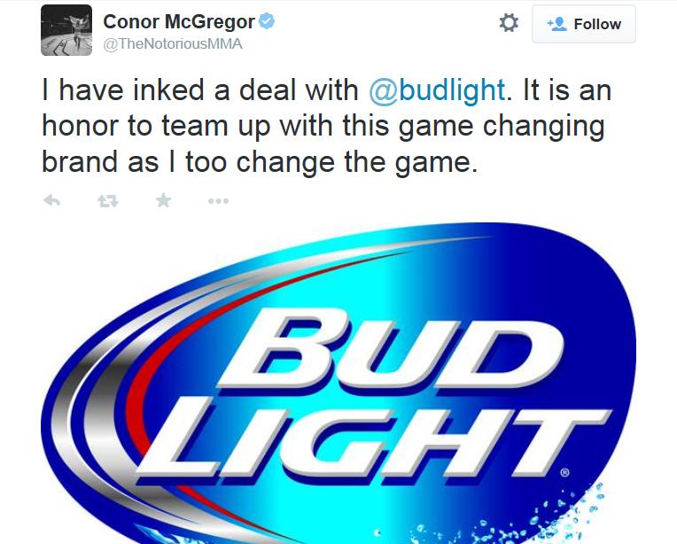 Bud Light Mcgregor